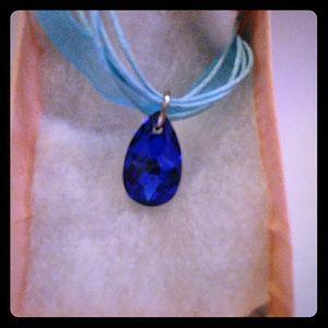 Jewelry - Hawaii Blue Crystal Teardrop Necklace